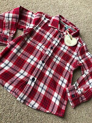 Little Bird By Jools Oliver Red Checked Shirt First Season 2012 18-24 M