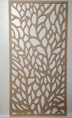 Radiator Cabinet Decorative Screening Perforated 3mm & 6mm thick MDF laser cutB1