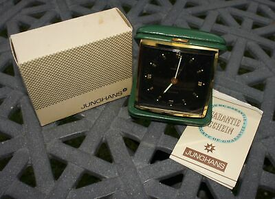 Vintage 1960's Boxed Junghans Travel Clock - 10 Jewels - Illuminated