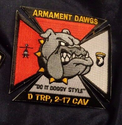 Army Aviation Patch, D Troop,2Nd Sqn,17Th Cavalry Rgt,101 Abn Div,Armament Dawgs