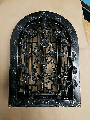 Victorian Era Cast Iron Arch, Dome, Cathedral Heat Grate, Vent. Very Ornate.
