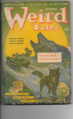 Weird Tales September 1942 H.P. Lovecraft Herbert West–Reanimator