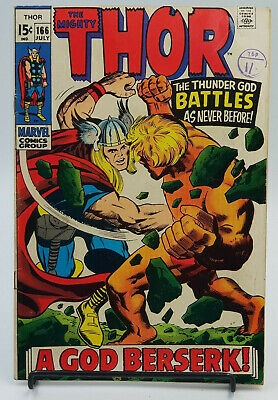 Thor #166 Silver Age Marvel Comics Stan Lee VG