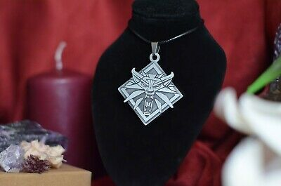 The Witcher Geralt of Rivia necklace cosplay The Witcher Medallion Witcher Game
