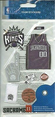 BASKETBALL SACRAMENTO KINGS Mascot Fan Jersey Play NBA Team Stickers