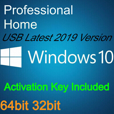 Windows 10 USB Pro Home 32/64bit Activation Key With HDD
