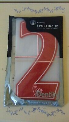 Sporting ID Lextra Felt Premier League 07-17 Red Number 2 Pack Of 10 Adult Size