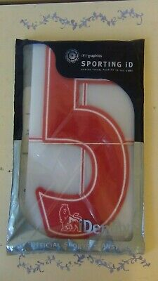 Sporting ID Lextra Felt Premier League 07-17 Red Number 5 Pack Of 10 Adult Size