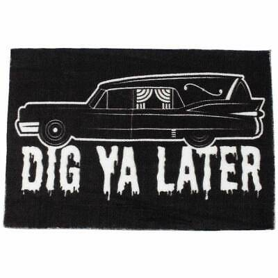 Sourpuss Hearse Door Mat Retro Gothic Dead Tattoo Punk Welcome Floor Homewares