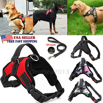 No Pull Adjustable Dog Pet Vest Harness Heavy Duty Nylon Small/Medium/Large/XL