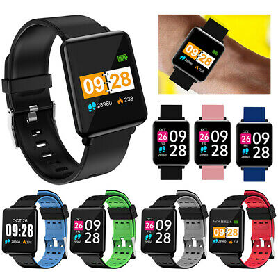 Sports Smart Watch Heart Rate Blood Pressure Monitor Waterproof  for iOS Android