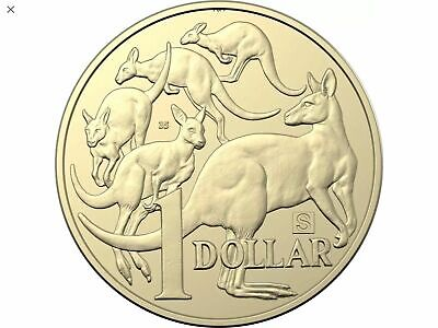 "2019 S Privy Mark Australian $1 One Dollar Coin - Uncirculated ""With The No 35"""