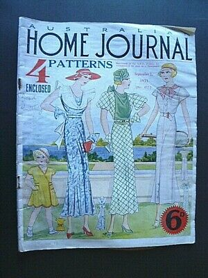 VINTAGE 1930's AUSTRALIAN HOME JOURNAL MAGAZINE ~ SEPT 1, 1933 ~ WITH PATTERNS