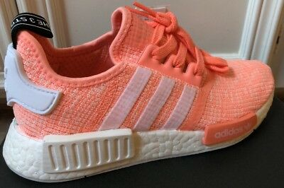 bf70c6d44 New Adidas NMD R1 Sun Glow Salmon Pink Haze Coral Size 6 BY3034 Boost Womens