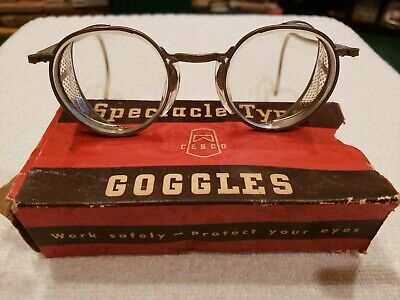 Vintage safety glasses goggles cesco spectacle steampunk Motorcycle