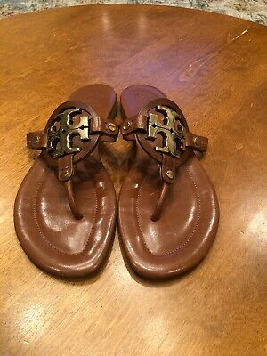 36e527456 NEW TORY BURCH Miller Sandals Black Patent Leather Shoes Size 8m ...