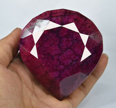 Natural 2115 Carat  Certified  Real Corundum African Red Ruby Gemstone CD9530