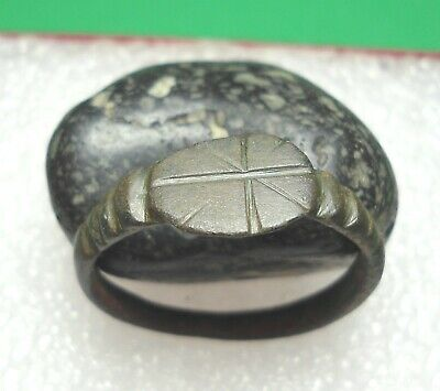 Ancient Roman Bronze Ring Original Authentic Antique Rare R695