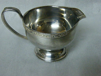 Viners Silver Plated Silver Rose Pattern Footed MILK JUG 3.5inDia174gms