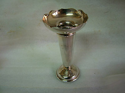 PLATO Silver Plated POSY VASE 4.2inTall2.2inDiaTop67gms