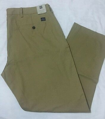 M&S Men's PREMIUM PURE COTTON Slim Fit Chinos Trousers CAMEL Size W40 L31