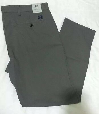 M&S Men's PREMIUM PURE COTTON Slim Fit Chinos Trousers MID GREY Size W38 L33