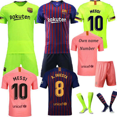 Kids 18//19 Soccer 3-14 Years Summer Football Kits Boys Short Sleeve Shirt Jersey