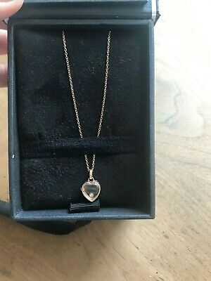 Set Loquet London small heart locket rose gold 9kt Incl 18 chain and Pearl