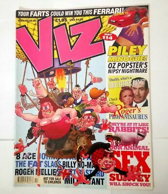Viz Comic Magazine Number 114 May 2002 Collectable Adult Humour Humor As New   *