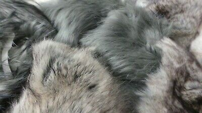 LUXURY Faux Fur Fabric Waste Offcuts 2KG brown pack