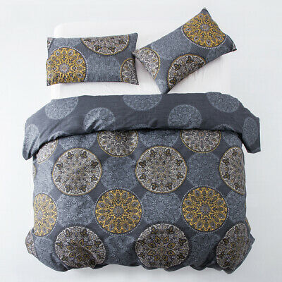 Duvet Cover With Pillow Cases 3 Piece Light Weight Quilt Cover Set Tumble King