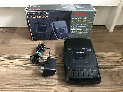Sanyo TRC-SB1000 Tape Cassette Voice Recorder / Player - Portable , Boxed
