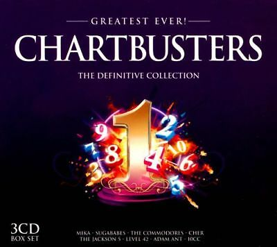 Greatest Ever! Chartbusters (2012) 3 CDS 54 Classic Tracks NEW SEALED FREE P&P!!