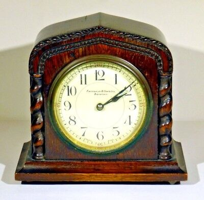 "Antique ~ Fattorini & Sons Ltd Bradford ~ Mantle Clock. Approx 6"" High ~ Pre WW2"