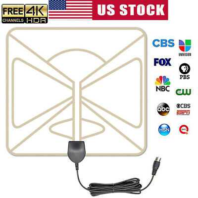 2019 Upgraded Indoor TV Antenna Amplified Digital HDTV 300 Miles Range 4K 1080p