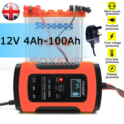 Automatic Smart 12V Car Battery Charger 5A LCD Display Auto Pulse Repair AGM GEL