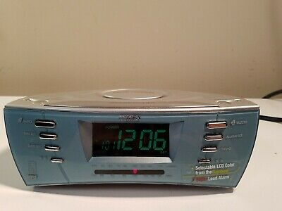TIMEX T439S DUAL Alarm Clock Radio with Nature Sounds Snooze MP3 Aux/Port