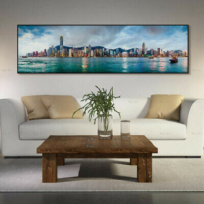 canvas painting Landscape city scene wall art picture decoration for living room