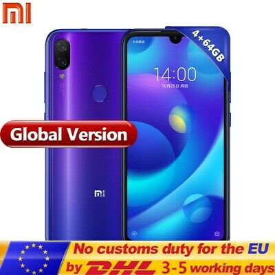 "GLOBAL Xiaomi Mi Play 4G Smartphone 5.84"" MIUI 9 Helio P35 4GB 64GB 2-SIM móvil"
