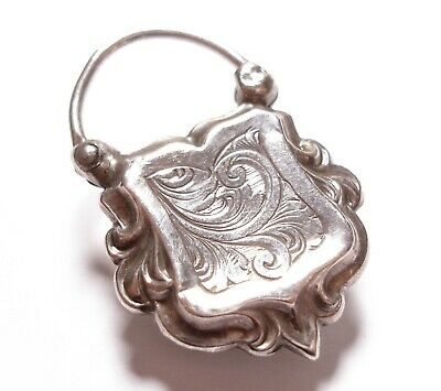 Beautiful Antique Victorian Silver Clasp For A Bracelet Af