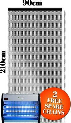 Aluminium Door Screen Metal Fly Chain Curtain & Electric Insect Killer Zapper
