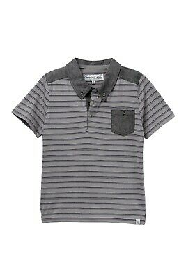 New Toddler Boys Sovereign Code Gray/Navy Tommy Striped Polo  2T