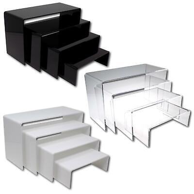 Nesting Plinths Acrylic Retail Riser Counter Exhibition Display Stand Shelves