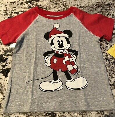 Nwt Toddler Boy Disneys Mickey Mouse Christmas Shirt Size 18 Months
