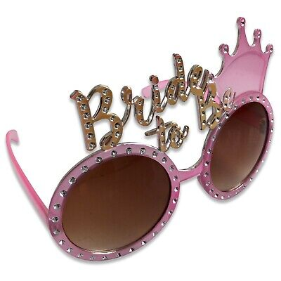 Pink Gold Bride To Be Glasses Sunglasses Hen Night Party Do Novelty Accessory