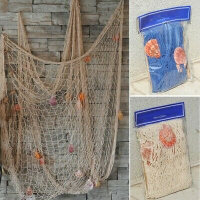 US Nautical Seaside Beach Decorative Sea Ocean Fish Net Home Wall Party Decors