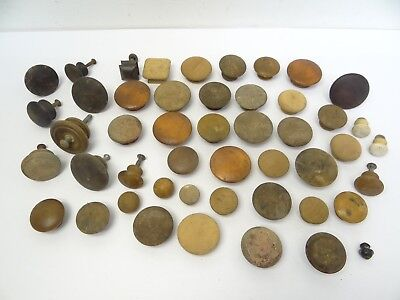 Mixed Antique & Vintage Lot Used Old Wood Dresser Cabinet Drawer Pulls Handles