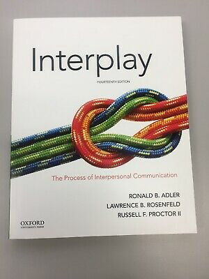Interplay The Process of Interpersonal Communication 14th Ed (Paperback) 2018