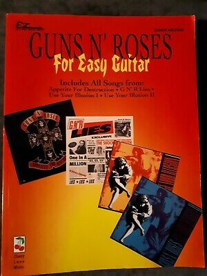 Guns N' Roses - Tab Book for all songs from 4 GnR albums - For Easy Guitar!