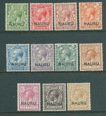 NAURU 1916 World War 1 George V British Mandate mint SET